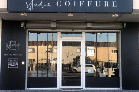 devanture salon studio coiffure Villepreux
